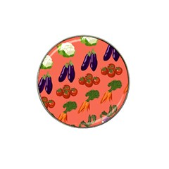 Vegetable Carrot Tomato Pumpkin Eggplant Hat Clip Ball Marker (4 Pack) by Mariart