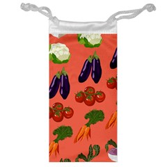 Vegetable Carrot Tomato Pumpkin Eggplant Jewelry Bag by Mariart