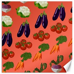 Vegetable Carrot Tomato Pumpkin Eggplant Canvas 12  X 12   by Mariart