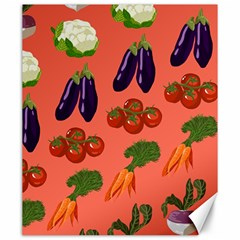 Vegetable Carrot Tomato Pumpkin Eggplant Canvas 20  X 24   by Mariart