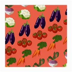 Vegetable Carrot Tomato Pumpkin Eggplant Medium Glasses Cloth by Mariart