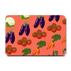 Vegetable Carrot Tomato Pumpkin Eggplant Small Doormat  by Mariart