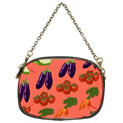 Vegetable Carrot Tomato Pumpkin Eggplant Chain Purses (one Side)  by Mariart