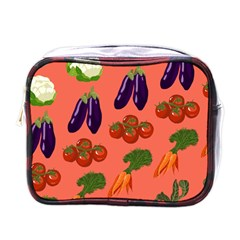 Vegetable Carrot Tomato Pumpkin Eggplant Mini Toiletries Bags by Mariart