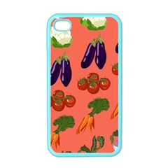 Vegetable Carrot Tomato Pumpkin Eggplant Apple Iphone 4 Case (color) by Mariart