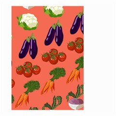 Vegetable Carrot Tomato Pumpkin Eggplant Small Garden Flag (two Sides) by Mariart