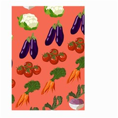 Vegetable Carrot Tomato Pumpkin Eggplant Large Garden Flag (two Sides) by Mariart