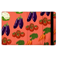 Vegetable Carrot Tomato Pumpkin Eggplant Apple Ipad 3/4 Flip Case by Mariart