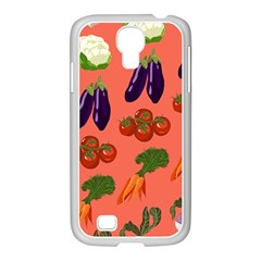Vegetable Carrot Tomato Pumpkin Eggplant Samsung Galaxy S4 I9500/ I9505 Case (white) by Mariart