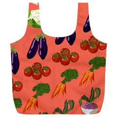 Vegetable Carrot Tomato Pumpkin Eggplant Full Print Recycle Bags (l)  by Mariart