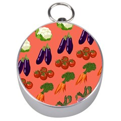 Vegetable Carrot Tomato Pumpkin Eggplant Silver Compasses by Mariart