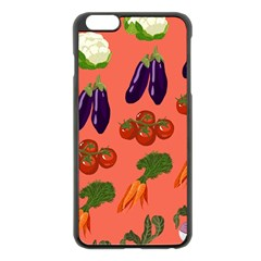 Vegetable Carrot Tomato Pumpkin Eggplant Apple Iphone 6 Plus/6s Plus Black Enamel Case by Mariart