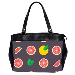 Wild Textures Grapefruits Pattern Lime Orange Office Handbags (2 Sides)  by Mariart