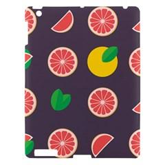 Wild Textures Grapefruits Pattern Lime Orange Apple Ipad 3/4 Hardshell Case by Mariart