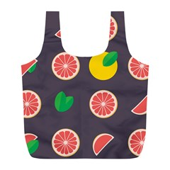 Wild Textures Grapefruits Pattern Lime Orange Full Print Recycle Bags (l)  by Mariart