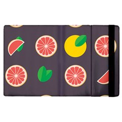 Wild Textures Grapefruits Pattern Lime Orange Apple Ipad Pro 12 9   Flip Case by Mariart