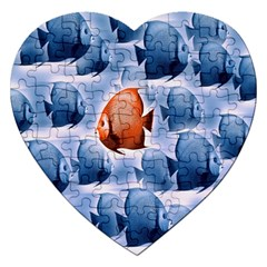 Swim Fish Jigsaw Puzzle (heart) by Mariart