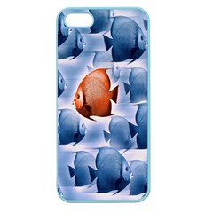 Swim Fish Apple Seamless Iphone 5 Case (color) by Mariart