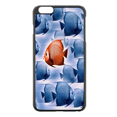 Swim Fish Apple Iphone 6 Plus/6s Plus Black Enamel Case by Mariart