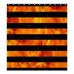 Stripes2 Black Marble & Fire Shower Curtain 66  X 72  (large)  by trendistuff