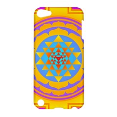 Triangle Orange Pink Apple Ipod Touch 5 Hardshell Case by Mariart