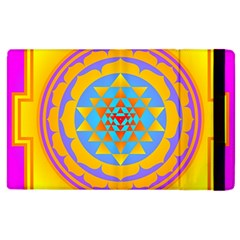 Triangle Orange Pink Apple Ipad 2 Flip Case by Mariart