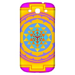 Triangle Orange Pink Samsung Galaxy S3 S Iii Classic Hardshell Back Case by Mariart