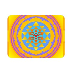 Triangle Orange Pink Double Sided Flano Blanket (mini)  by Mariart