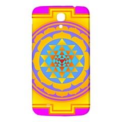 Triangle Orange Pink Samsung Galaxy Mega I9200 Hardshell Back Case by Mariart