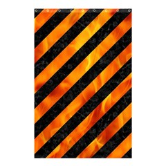 Stripes3 Black Marble & Fire Shower Curtain 48  X 72  (small)  by trendistuff