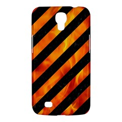 Stripes3 Black Marble & Fire Samsung Galaxy Mega 6 3  I9200 Hardshell Case by trendistuff