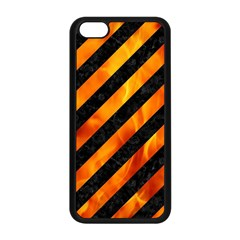 Stripes3 Black Marble & Fire Apple Iphone 5c Seamless Case (black) by trendistuff