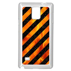 Stripes3 Black Marble & Fire Samsung Galaxy Note 4 Case (white) by trendistuff