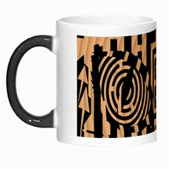 Wooden Cat Face Line Arrow Mask Plaid Morph Mugs by Mariart