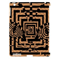 Wooden Cat Face Line Arrow Mask Plaid Apple Ipad 3/4 Hardshell Case (compatible With Smart Cover) by Mariart