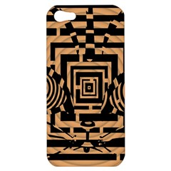 Wooden Cat Face Line Arrow Mask Plaid Apple Iphone 5 Hardshell Case by Mariart