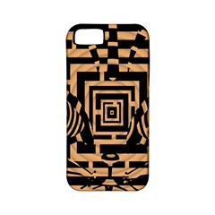 Wooden Cat Face Line Arrow Mask Plaid Apple Iphone 5 Classic Hardshell Case (pc+silicone) by Mariart