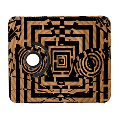Wooden Cat Face Line Arrow Mask Plaid Galaxy S3 (flip/folio) by Mariart