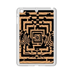 Wooden Cat Face Line Arrow Mask Plaid Ipad Mini 2 Enamel Coated Cases by Mariart