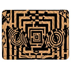 Wooden Cat Face Line Arrow Mask Plaid Samsung Galaxy Tab 7  P1000 Flip Case by Mariart