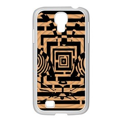 Wooden Cat Face Line Arrow Mask Plaid Samsung Galaxy S4 I9500/ I9505 Case (white) by Mariart