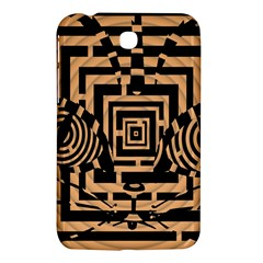 Wooden Cat Face Line Arrow Mask Plaid Samsung Galaxy Tab 3 (7 ) P3200 Hardshell Case  by Mariart