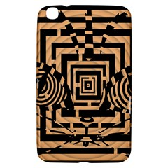 Wooden Cat Face Line Arrow Mask Plaid Samsung Galaxy Tab 3 (8 ) T3100 Hardshell Case  by Mariart