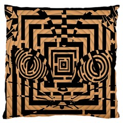 Wooden Cat Face Line Arrow Mask Plaid Standard Flano Cushion Case (two Sides) by Mariart