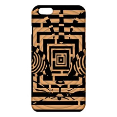 Wooden Cat Face Line Arrow Mask Plaid Iphone 6 Plus/6s Plus Tpu Case by Mariart