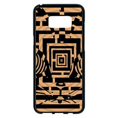 Wooden Cat Face Line Arrow Mask Plaid Samsung Galaxy S8 Plus Black Seamless Case by Mariart