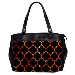Tile1 Black Marble & Fire Office Handbags by trendistuff