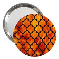 Tile1 Black Marble & Fire (r) 3  Handbag Mirrors by trendistuff
