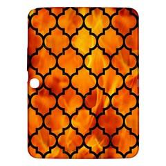 Tile1 Black Marble & Fire (r) Samsung Galaxy Tab 3 (10 1 ) P5200 Hardshell Case  by trendistuff