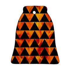 Triangle2 Black Marble & Fire Bell Ornament (two Sides) by trendistuff